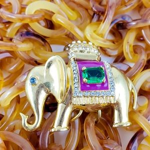J. Crew Jewelry - J. Crew Elephant Necklace Faux Tortoise Shell